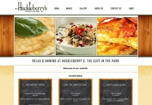 Huckleberry`s Cafe in the Park