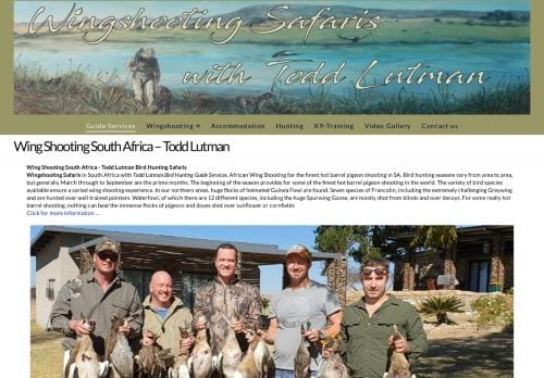 Wing Shooting South Africa