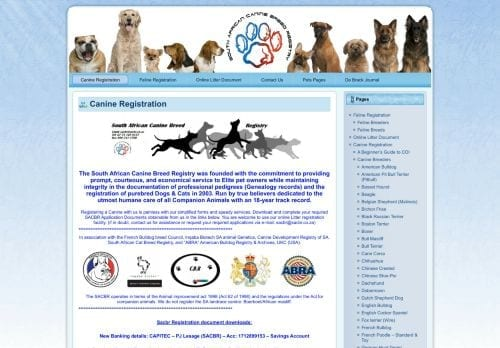 South African Canine Breed Registry