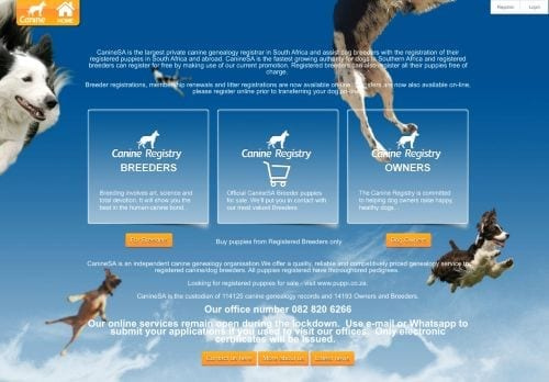 Canine Registry South Africa