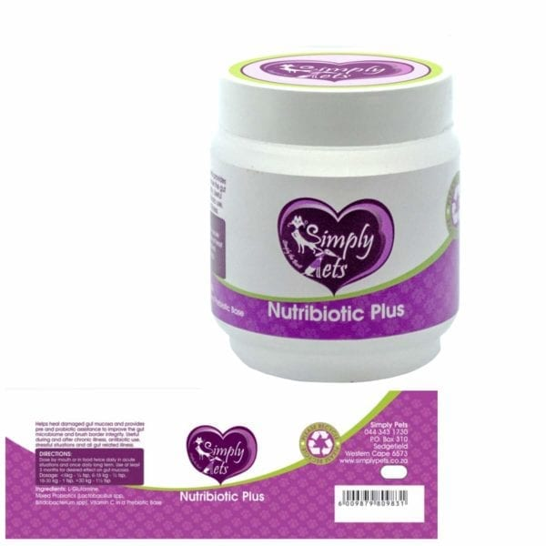 NutriBiotic 60gr for Cats and Dogs by Simply Pets | Buy from Simply Pets | Supplements | Probiotic for Animals | Synbiotic