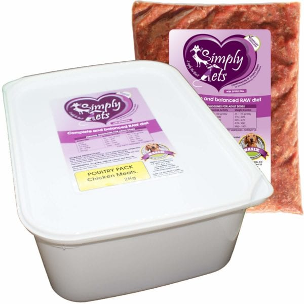 Poultry Pack for Dogs by Simply Pets | Chicken Meal for Dogs | Veterinary formulated | Raw Dog Food | Raw Food for Dogs